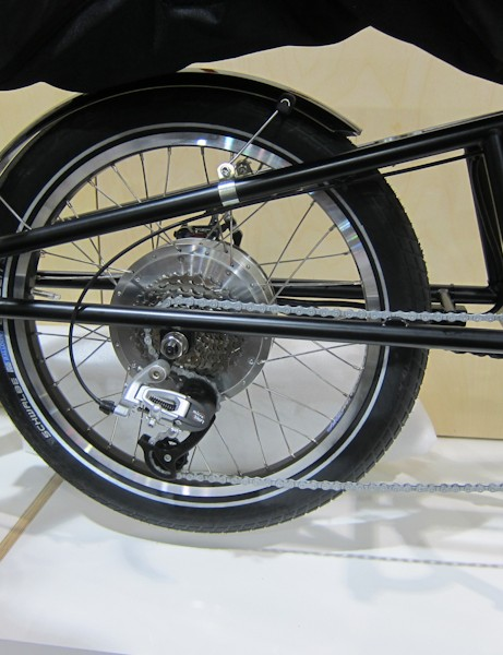 Xtracycle's EdgeRunner is made for a 20-inch wheel, which drops platform height down 6-inches for better bike handling, easier accessibility of payload, and offers a stronger wheel overall
