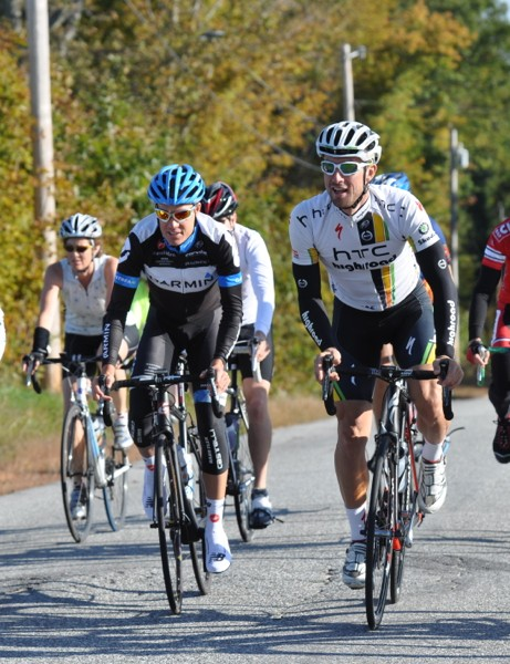 Last year Dempsey (left) was joined by Tom Danielson, Bernie Eisel and Levi Leipheimer, among other top pros