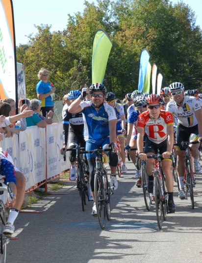 The hotly contested finish of the 2011 ride