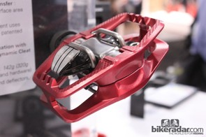 Both the polycarbonate and alloy (shown here) pedal bodies capture the Look S-Track pedal from the top and bottom and are fastened with four bolts