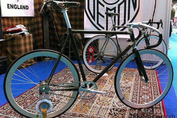Demon Frameworks had their Hermes track bike on display at the Cycle Show. It took home the award for best track bike at the Bespoked Bristol show in March 2012