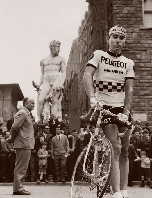 Merckx in the Piazza della Signoria in Florence
