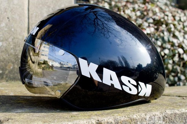 The short-tailed Kask Bambino time trial helmet
