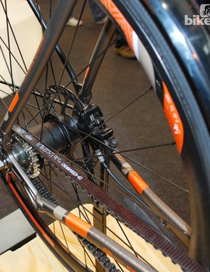 The Specialized Source has a carbon belt and automatic two-speed shifting