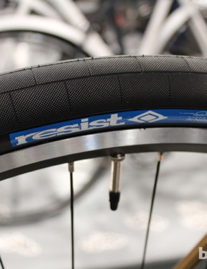 Resist tires aren't made in the US, but the freestyle pattern is striking
