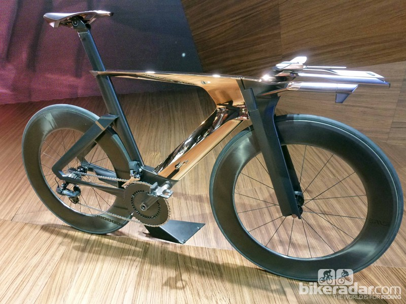 Peugeot Cycle's copper-plated Onyx TT bike prototype