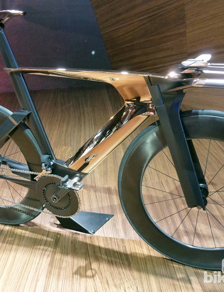 Peugeot Cycle's copper-plated Onyx TT bike prototype
