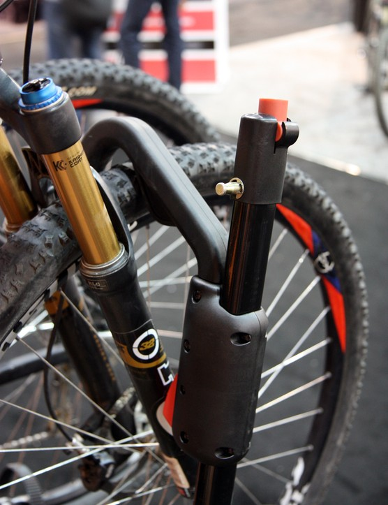 A cable lock is hidden inside each arm of the updated Yakima HoldUp rack