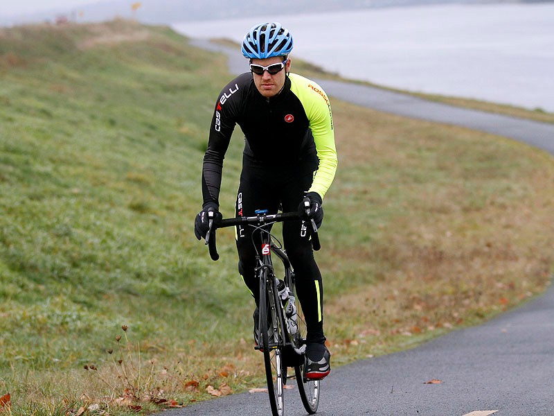 Castelli's Thermosuit is designed for cold weather riding but it claimed to have the weight and feel of summer kit