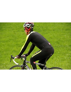 The Castelli Thermosuit uses the same pad, Progetto X2 Air, as found in the Speedsuit and Body Paint shorts