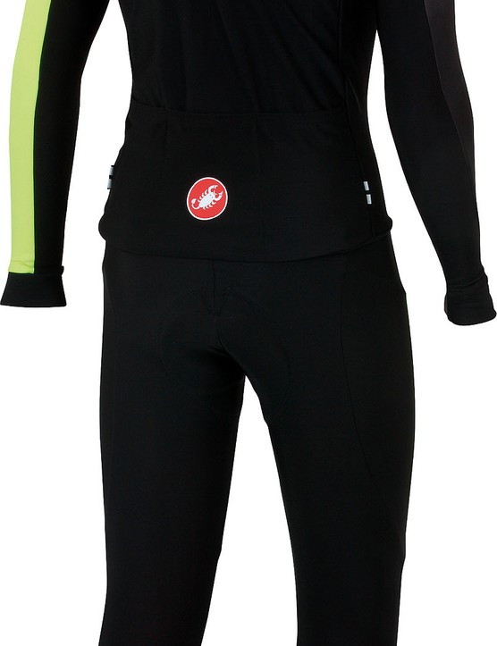 It comes in six sizes, from small to XXX-large, in this black/yellow fluorescent colour