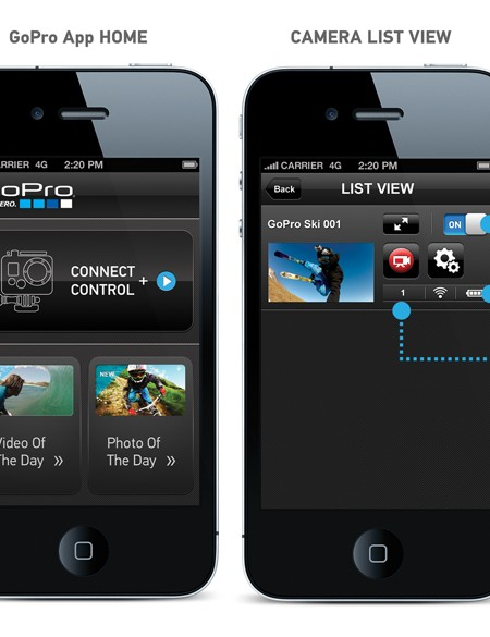 The upcoming GoPro smartphone and tablet app will provide users with a remote viewfinder, full controls and easy manipulation of various camera settings