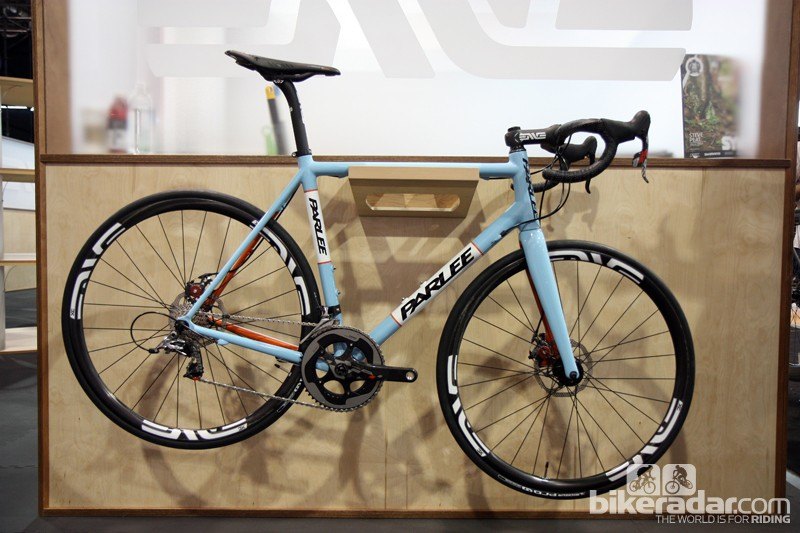 Parlee launched its new Z-Zero flagship at this year's Interbike. Said to be lighter and more rigid than the current Z1 flagship, it's also available with optional disc brake mounts