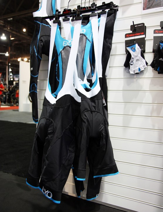 Giordana launched a new flagship clothing range at Interbike, called EXO, that emphasizes muscle support and aerodynamics