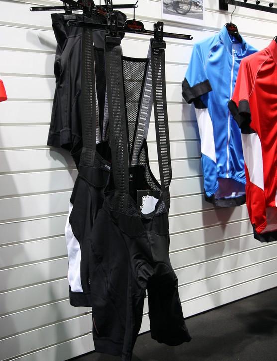 Giordana's mid-range Laser compression bib shorts get laser-perforated bib straps for 2013