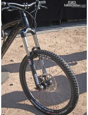 RockShox's Lyrik RC Solo Air fork and WTB wheels and tires for the 2013 Felt Compulsion LT3