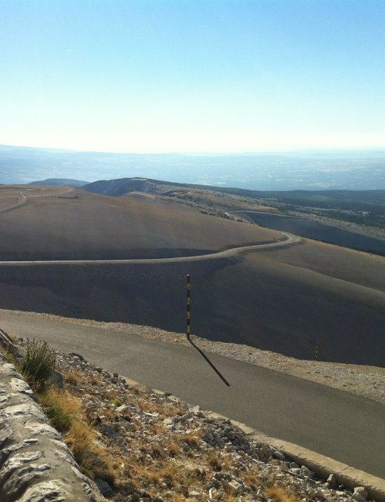 The legendary 'moonscape' view from the top of Mont Ventoux