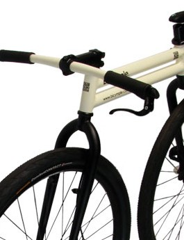 The Bicymple has the pedal system of a unicycle and the support of a bicycle