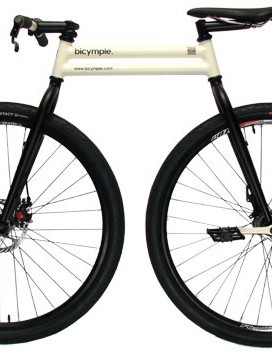 The Bicycmple has 29in wheels but a radically shortened wheelbase (31in) and top tube (23in)