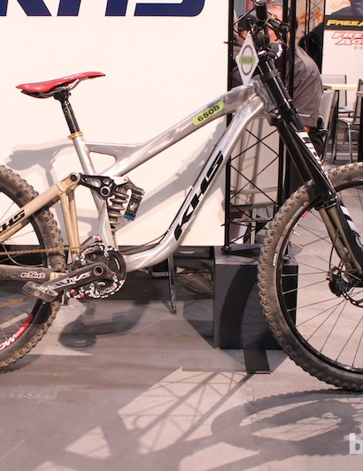 Logan Binggeli's prototype 650b KHS DH bike was on show at Interbike 2012