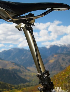 The Fox DOSS dropper seatpost has several brilliant positives but also a few major negatives