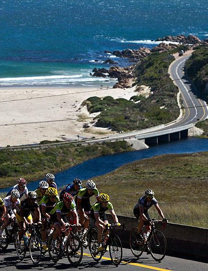 The rolling roads of the Western Cape are a huge challenge to many British riders given the event's position on the calendar