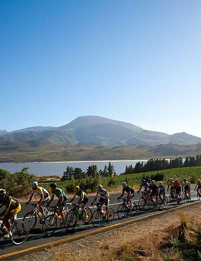 It's not just rolling roads: the event passes over an 8km mountain pass next to the Franshhoek base three times