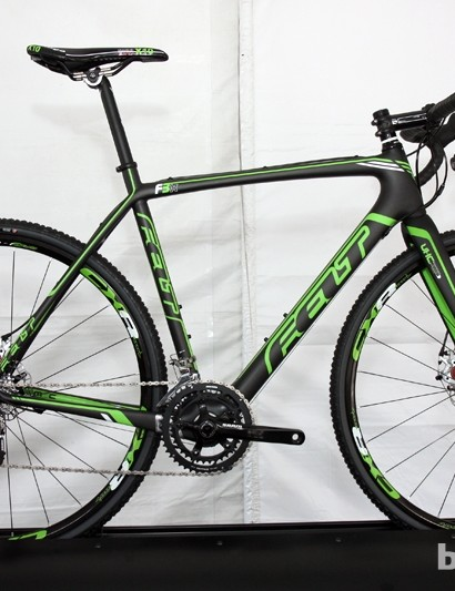 Felt offers three disc-equipped 'cross bikes this year: the F1X flagship, the F3X (shown here) and the aluminum F65X