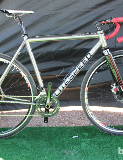 Litespeed offers its new CX titanium disc frame for use with rim or disc brakes