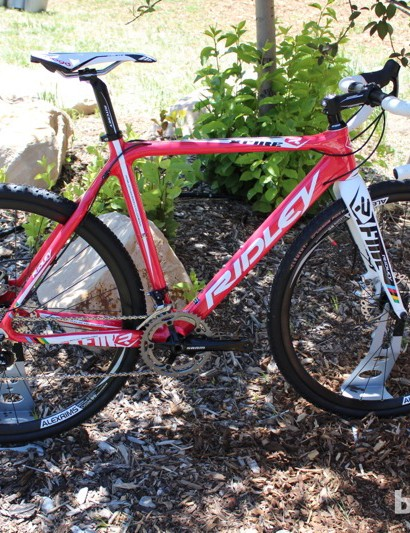 The Ridley X-Fire carbon 'cross bike is available with disc brakes for 2013