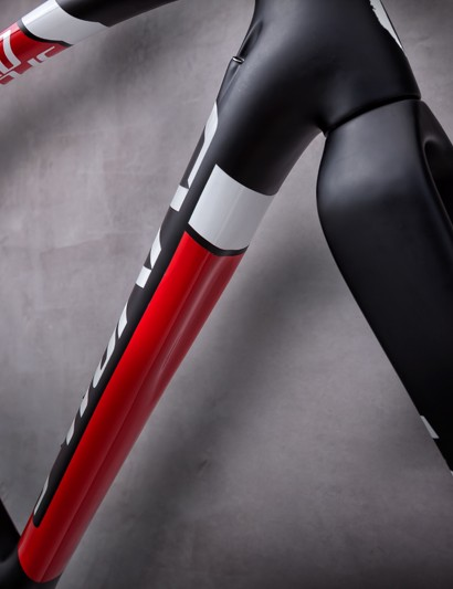Specialized's carbon disc cyclocross bikes feature a novel grip on the underside of the down tube