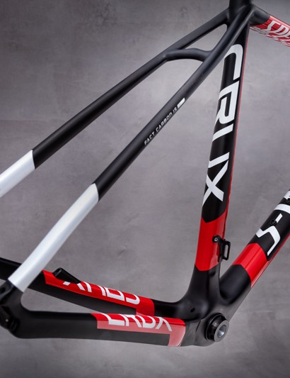 Specialized claims the disc version of the carbon fiber Crux is actually lighter than the rim brake version, as the seat stays don't have to be reinforced as much up top