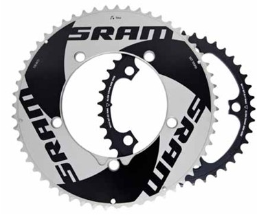 The 55/42t Aero chainrings are also compatible with SRAM's 'Yaw' technology