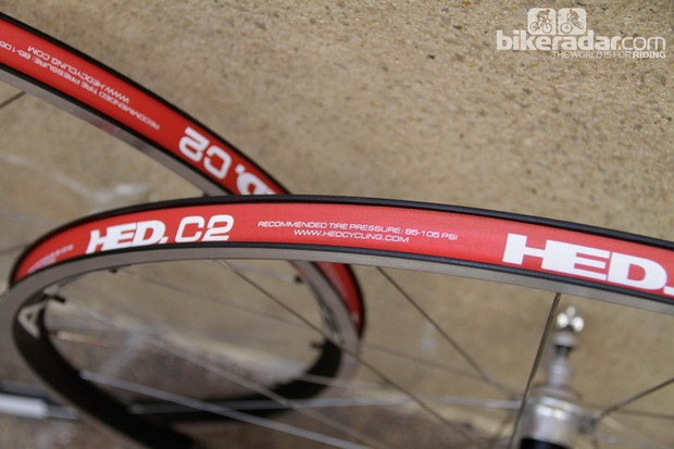 The HED C2 rim on the Ardennes FR is designed to run at lower pressures than for a standard wheel