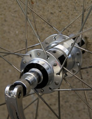 Slotted holes are required to accommodate the Sapim CX-Ray spokes