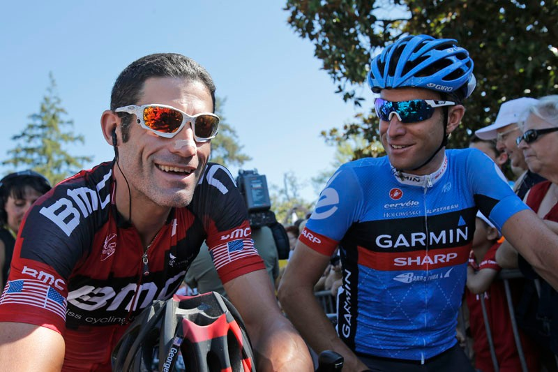 George Hincapie and Christian Vandevelde
