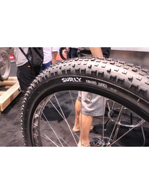 The Krampus rolls on 3in-wide tires – merelychubby by fat bike standards, but massive compared to every other 29er tire