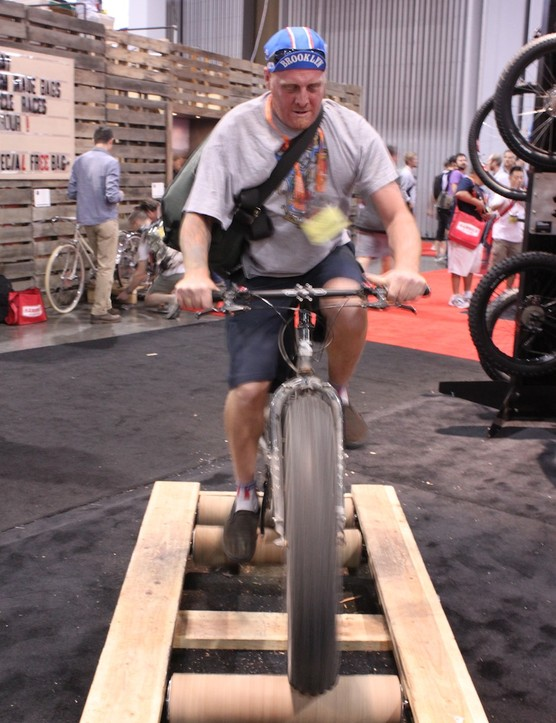 Fat bikes can be ridden anywhere, even on rollers…