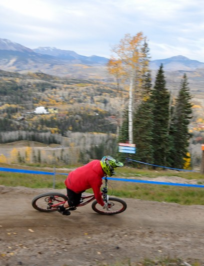 Telluride: A berm on course