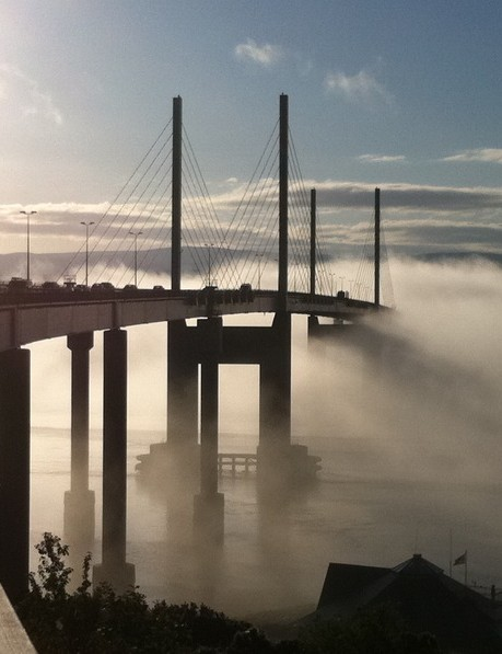 Crossing the Kessock Bridge on my commute into Inverness
