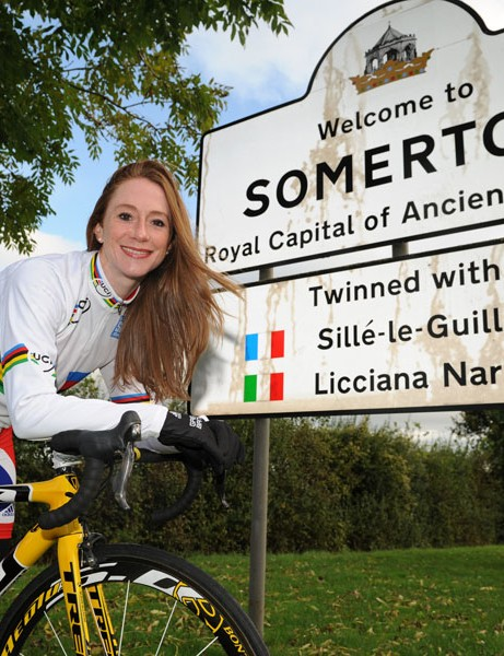 British Olympian and world champion Wendy Houvenaghel in Somerton, the base for the Tour of Wessex