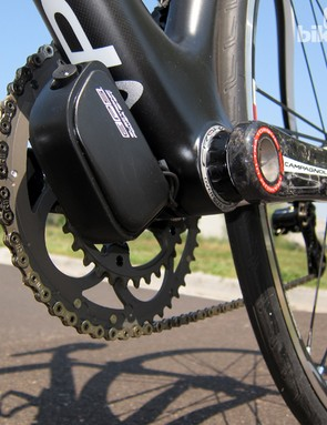 Pinarello includes a dedicated battery mount on the underside of the Dogma 65.1 Think2