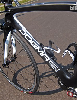 Front triangle stiffness is excellent on the new Pinarello Dogma 65.1 Think2