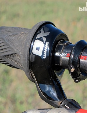 SRAM says the external clamp was required to avoid negatively affecting the alignment of the three rows of ball bearings inside the shifter body