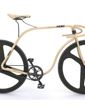 Thonet's sculpted Beechwood bike