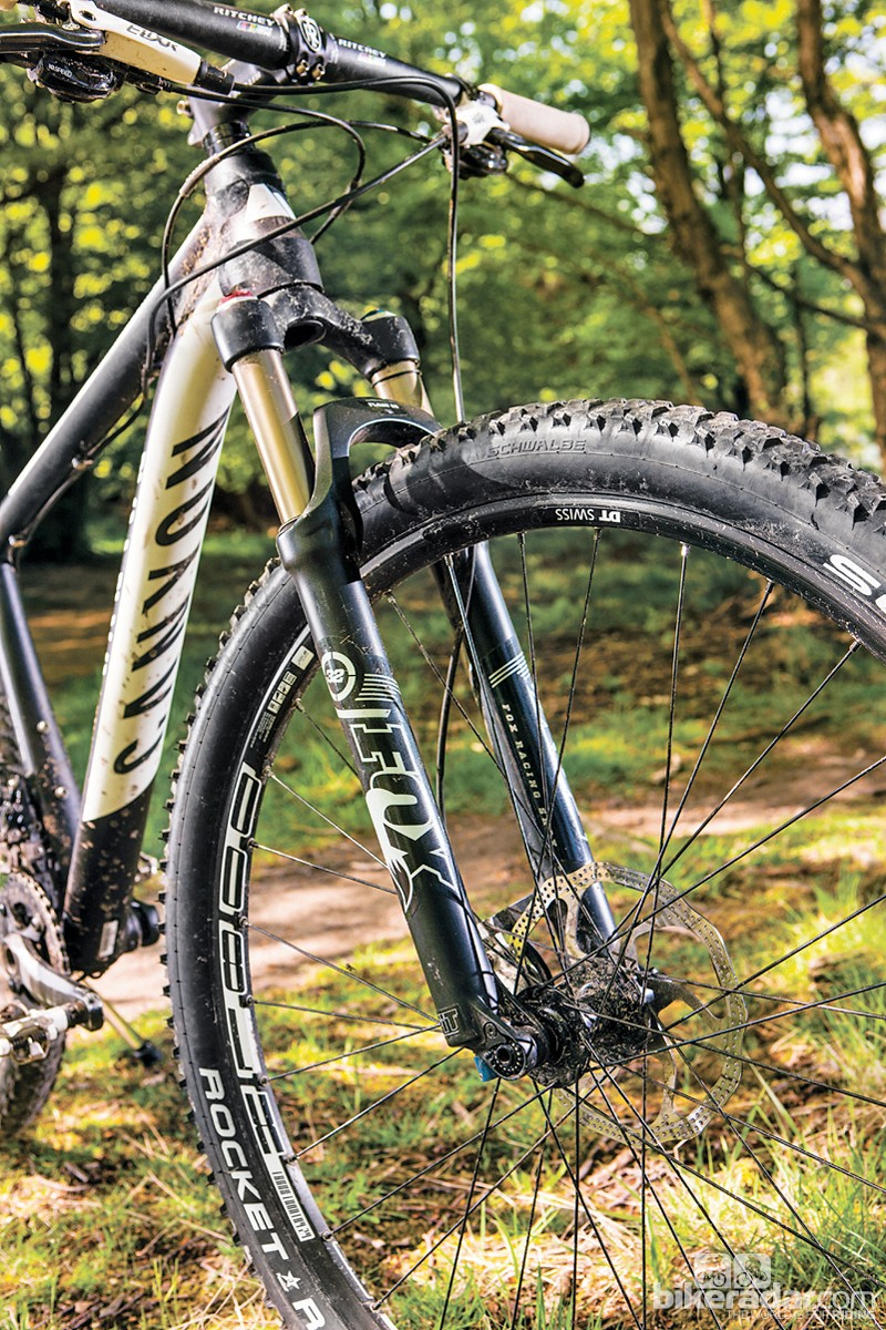 The Terralogic fork's adjustable damper can be set to suit your ride style