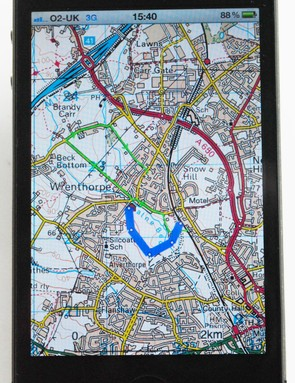 The iPhone 4's crisp display is ideal for complex mapping