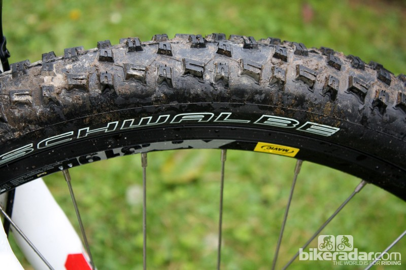 Schwalbe's versatile Nobby Nic 2.25in rubber meets Mavic's workhorse XM319 rims