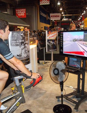 Virtual reality indoor trainers are just one of the high-tech recent advances on the cycling scene