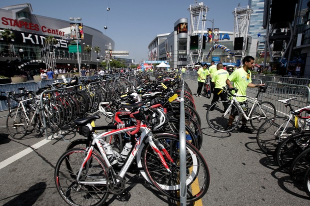 Downtown Los Angeles rolled out the red carpet for cyclists on May 20, when the Amgen Tour of California came to town